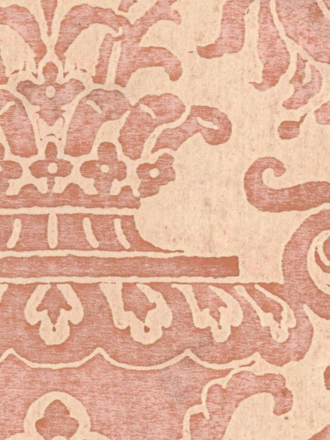 5050 CARNAVALET in pink & beige Fortuny Printed Cottons