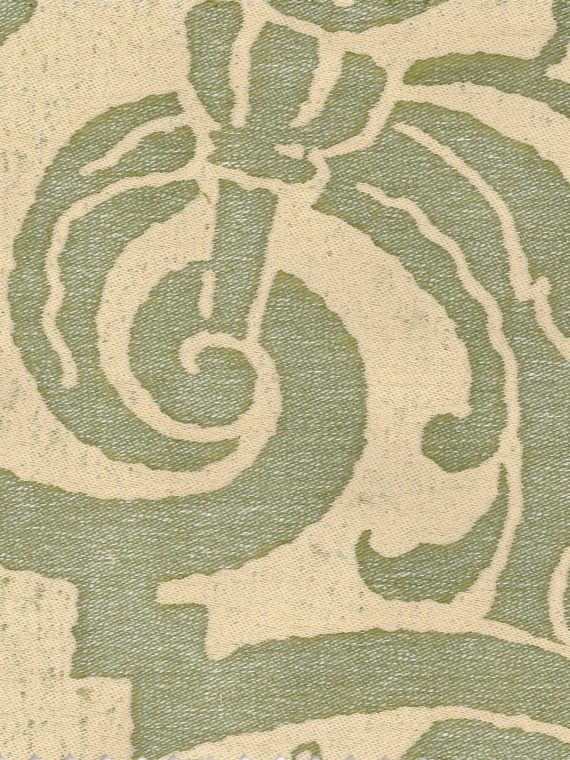 5108 CARNAVALET in celadon green & beige Fortuny Printed Cottons