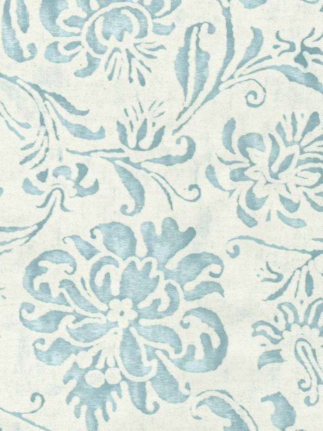 5435 CIMAROSA in french blue & antique white Fortuny Printed Cottons