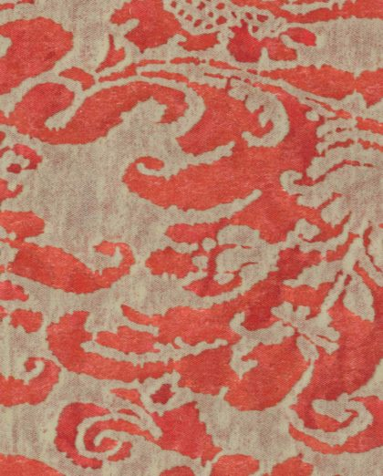 5066 CORONE in red & beige Fortuny Printed Cottons