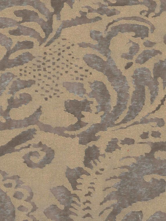 5198 CORONE in grey & silvery gold Fortuny Printed Cottons