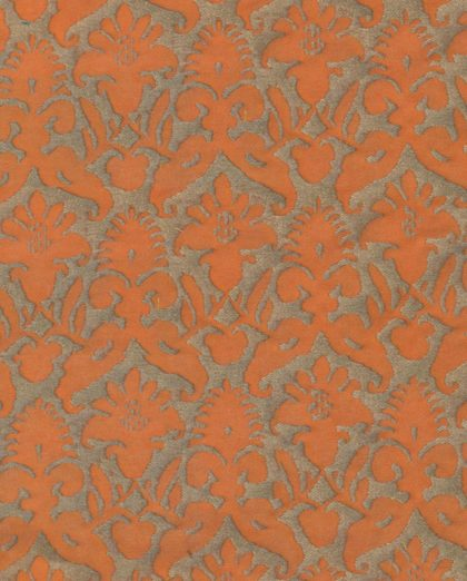 5157 DELFINO in melon & silvery gold Fortuny Printed Cottons