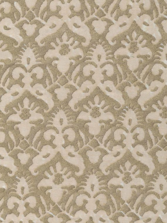 5242 DELFINO in string & silvery gold Fortuny Printed Cottons