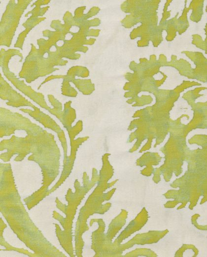 5133 DEMEDICI in lime green & beige Fortuny Printed Cottons