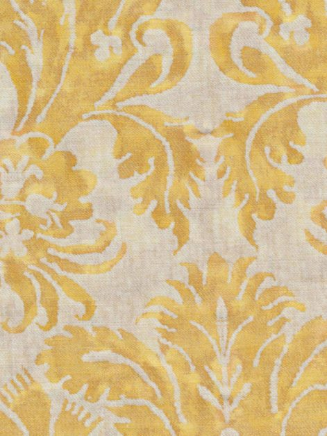 5220 DEMEDICI in yellow & white texture Fortuny Printed Cottons