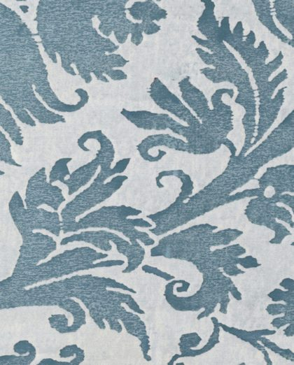 5301 DEMEDICI in azure blue & antique white Fortuny Printed Cottons