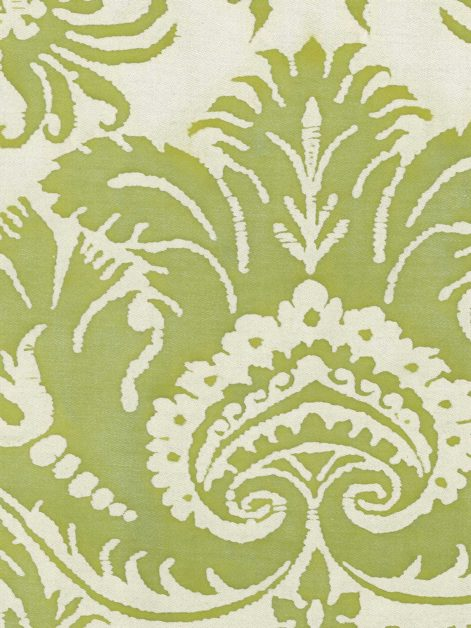 5327 DEMEDICI in apple green & white Fortuny Printed Cottons