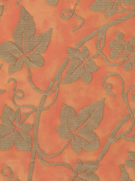 5161 EDERA in pompeian pink & silvery gold Fortuny Printed Cottons