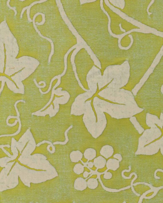 5334 EDERA in apple green & antique white Fortuny Printed Cottons