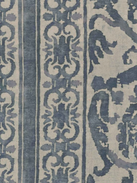 5350 FARNESE Frieze in blue & antique white Fortuny Printed Cottons