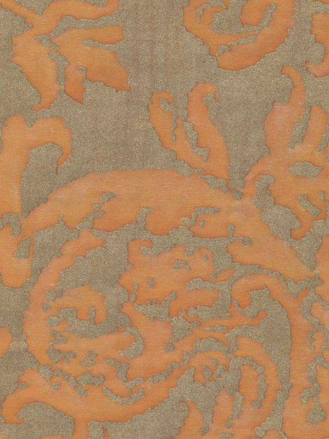 5375 FARNESE in melon & silvery gold Fortuny Printed Cottons