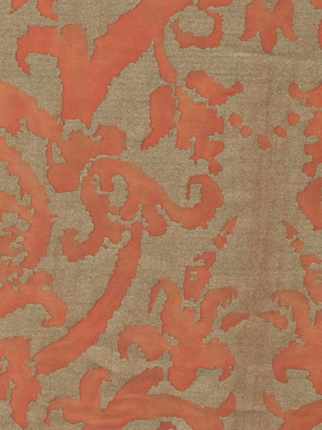 5396 FARNESE in persimmon & gold Fortuny Printed Cottons