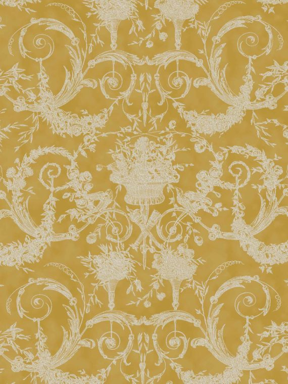 5392 FESTONI in yellow & white Fortuny Printed Cottons