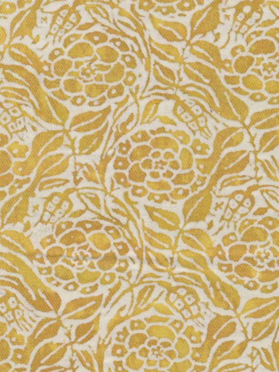 5232 FIORI in yellow & white texture Fortuny Printed Cottons