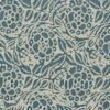 5665 FIORI in storm blue & ivory Fortuny Printed Cottons