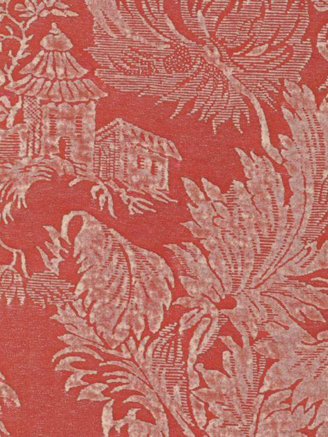 5387 FRAGONARD in toile red & white Fortuny Printed Cottons