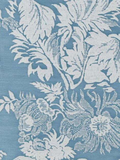 5389 FRAGONARD in pale blue & antique white Fortuny Printed Cottons
