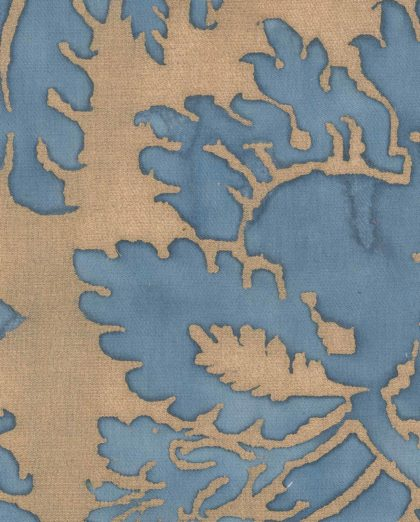 5149 GLICINE in blue & gold texture Fortuny Printed Cottons