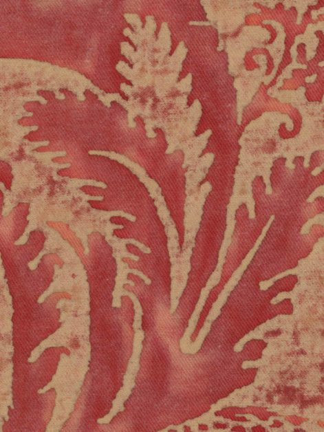 5498 GLICINE in brilliant red & warm beige texture Fortuny Printed Cottons