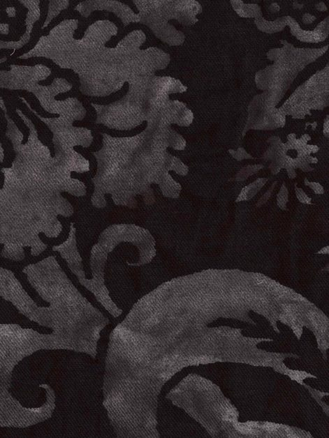 5708 GLICINE in fumo nero texture Fortuny Printed Cottons