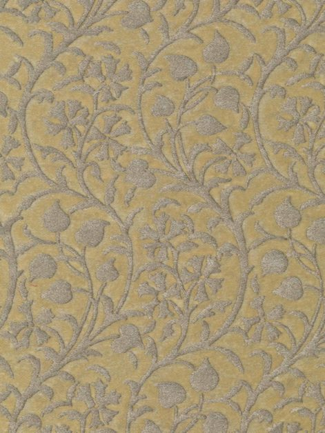 5037 GRANADA in seafoam green & silvery gold Fortuny Printed Cottons