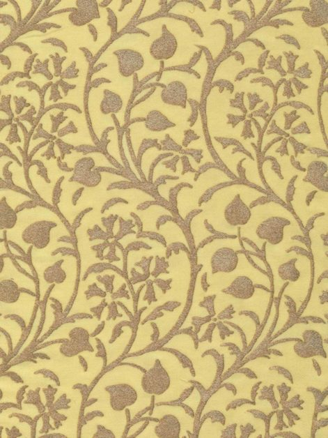 5038 GRANADA in yellow & silvery gold Fortuny Printed Cottons