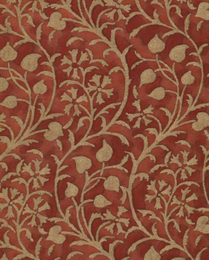 5614 GRANADA in deep burgundy & gold Fortuny Printed Cottons