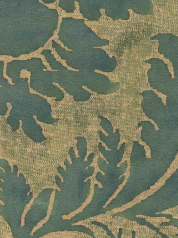 5565 GLICINE in green & warm beige texture Fortuny Printed Cottons