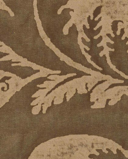 5612 GLICINE in brown museum texture Fortuny Printed Cottons