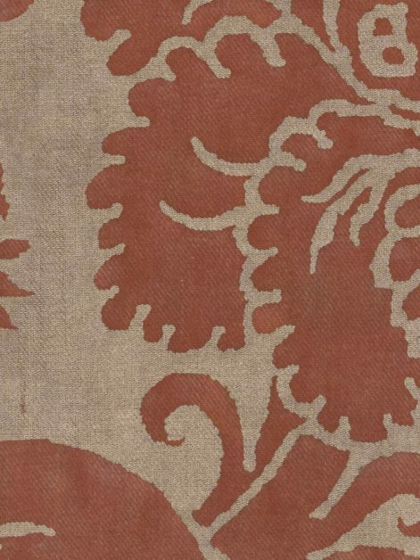 5613 GLICINE in rust & gold texture Fortuny Printed Cottons