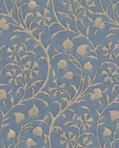 5328 GRANADA in blue & silvery gold Fortuny Printed Cottons