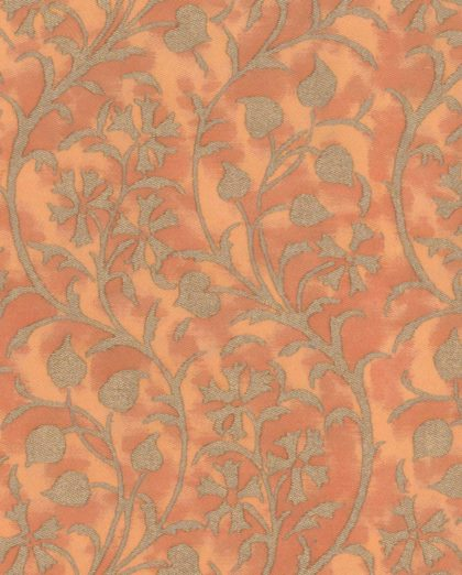 5446 GRANADA in persimmon & silvery gold Fortuny Printed Cottons