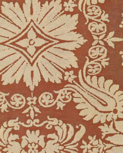 5336 IMPERO in sienna on parchment Fortuny Printed Cottons