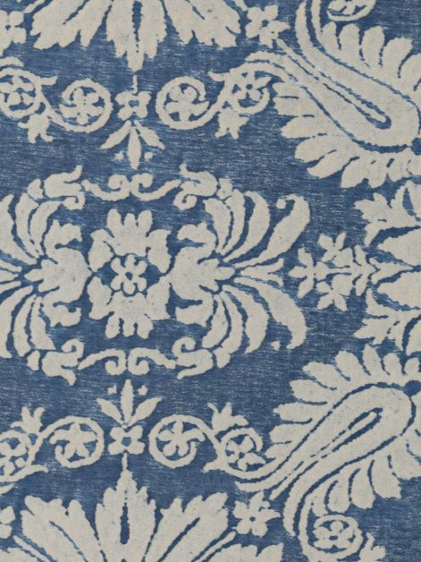 5563 IMPERO in blue & pale grey Fortuny Printed Cottons