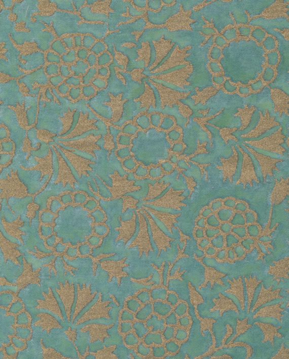 5105 IRANI in aquamarine & silvery gold Fortuny Printed Cottons
