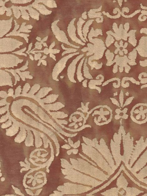 5069 IMPERO in copper & silvery gold Fortuny Printed Cottons