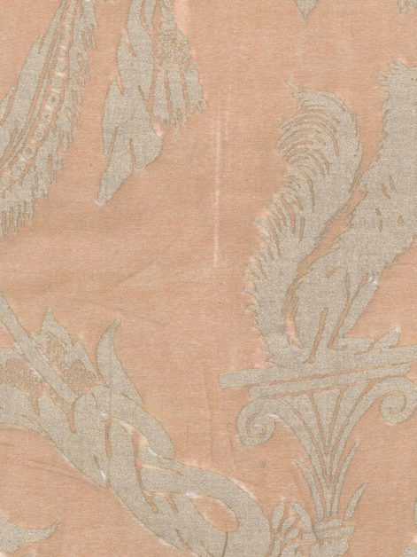 5263 LAMBALLE in warm french brown & gold Fortuny Printed Cottons