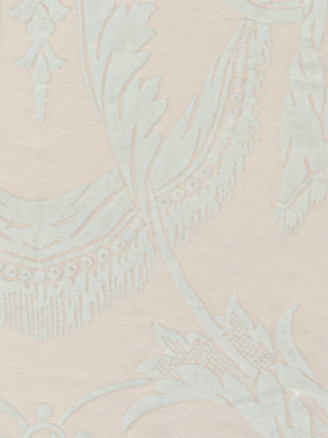 5264 LAMBALLE in moonlight & white Fortuny Printed Cottons