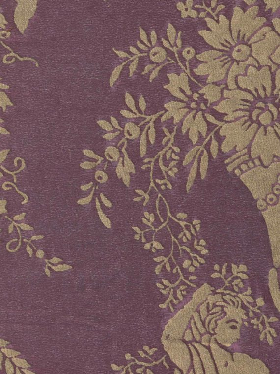 5265 LAMBALLE in chinese plum & gold Fortuny Printed Cottons