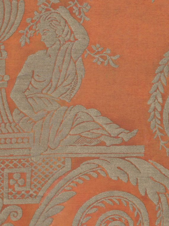 5391 LAMBALLE in persimmon & gold Fortuny Printed Cottons