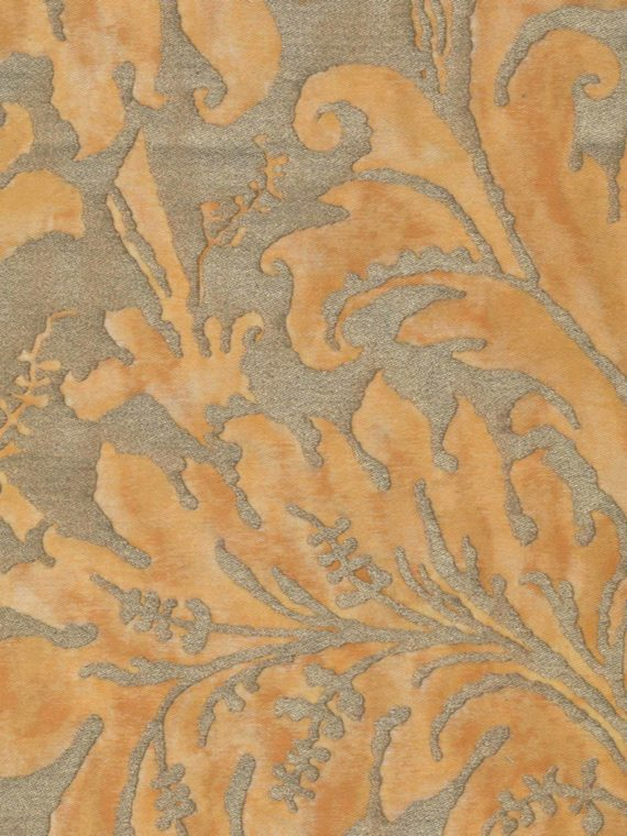 5283 LUCREZIA in yellow & silvery gold Fortuny Printed Cottons