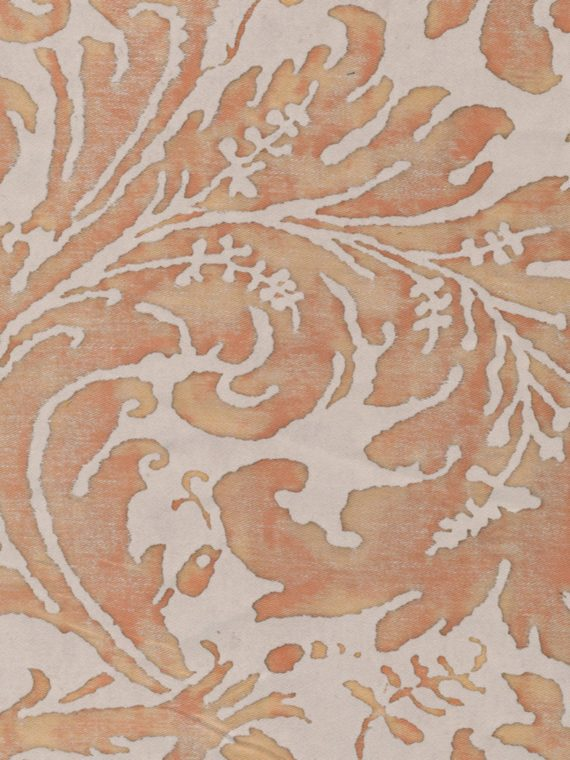 5287 LUCREZIA in shell pink & driftwood Fortuny Printed Cottons