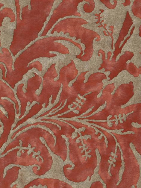 5395 LUCREZIA in bittersweet & silvery gold Fortuny Printed Cottons