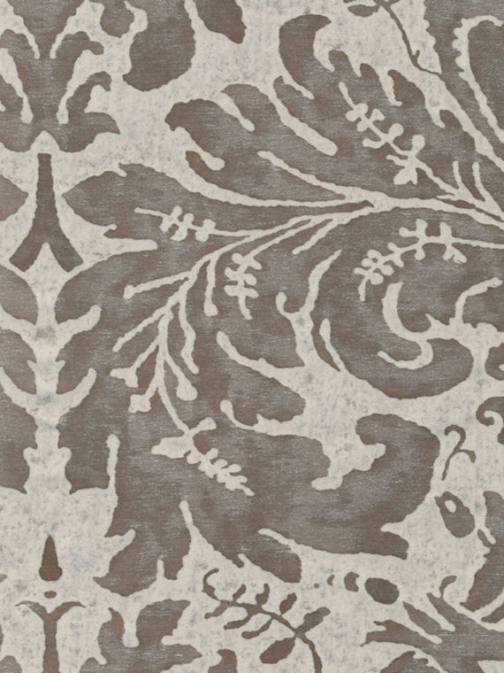 5528 LUCREZIA in pearl grey & antique white Fortuny Printed Cottons
