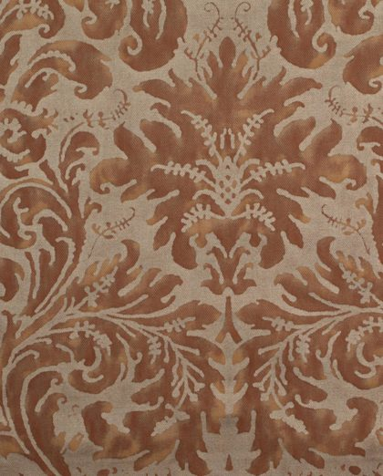 5668 LUCREZIA in brown & gold texture Fortuny Printed Cottons