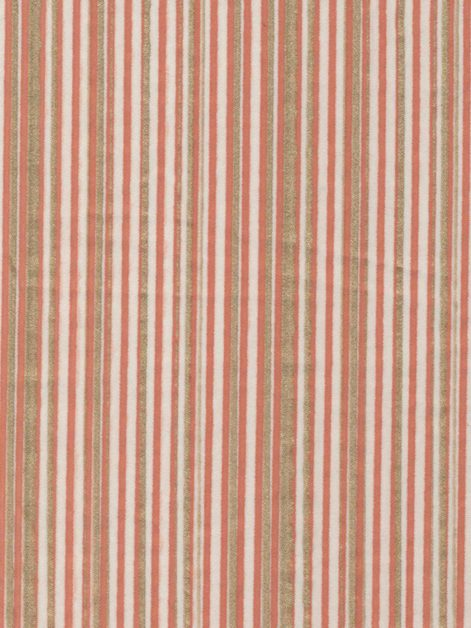 5262 MALMAISON in terra cotta & gold stripes on white Fortuny Printed Cottons