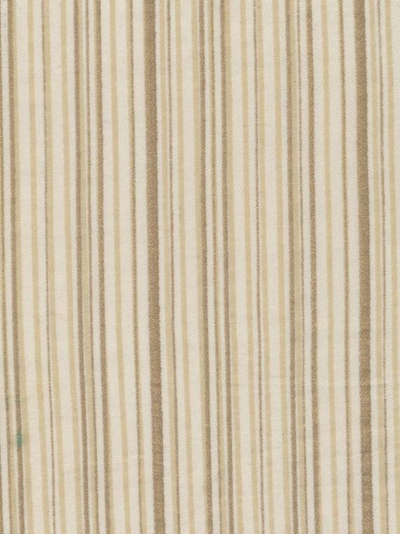 5319 MALMAISON in string & gold stripes on ivory Fortuny Printed Cottons
