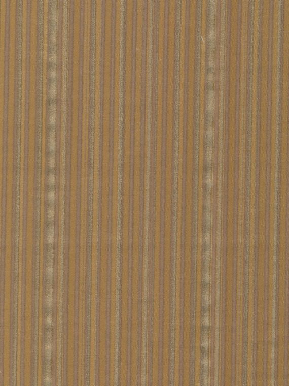 5615 MALMAISON in brown & gold with tan stripes Fortuny Printed Cottons