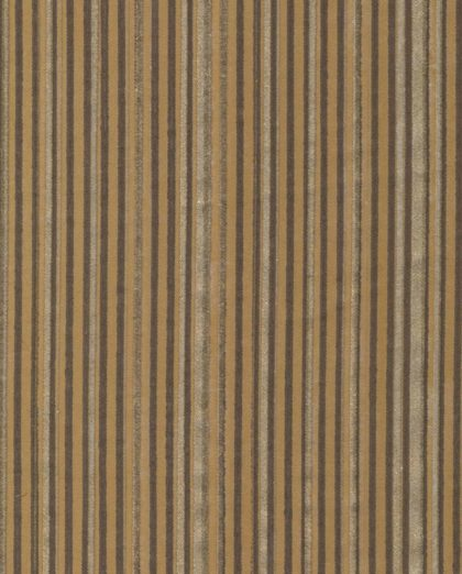 5650 MALMAISON in dark brown & gold stripes on camel Fortuny Printed Cottons