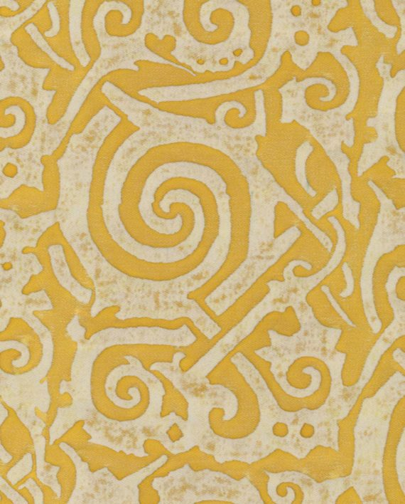 5337 MAORI in citron & antique white Fortuny Printed Cottons